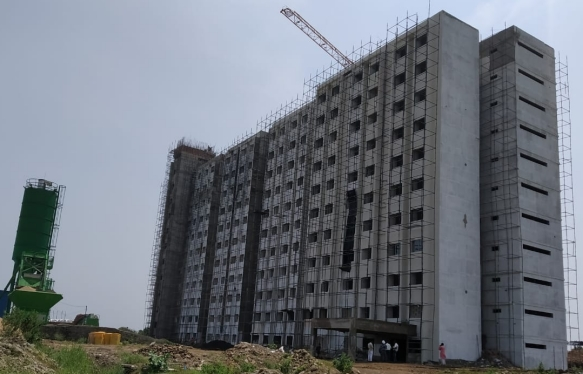 New Campus Hostel Block- Under Construction