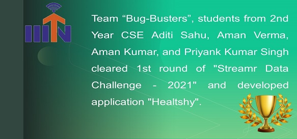 Students from 2nd Year CSE Team name Bug-Busters cleared the first round of